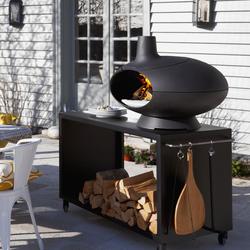Morsø Forno Garden - Pizzaoven, houtoven barbecue met tafel 120cm