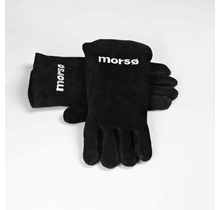 1 paar Morso leren barbecue handschoenen van extra zware kwaliteit