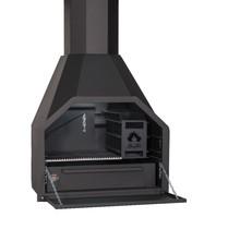 vrijstaande Home Fires Braai FS800 zonder onderstel voor houtopslag
