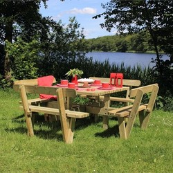 Square picnic table 237cm