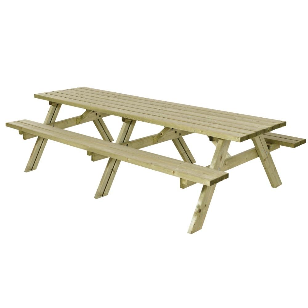 Plus Danemark Table pique-nique 300 cm XXL en bois autoclave classe 4
