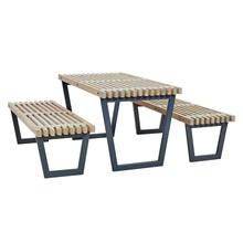 SIESTA garden table set including table and 2 garden benches