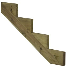 Staircase stringer 4 steps of pressure treated wood for garden stairs