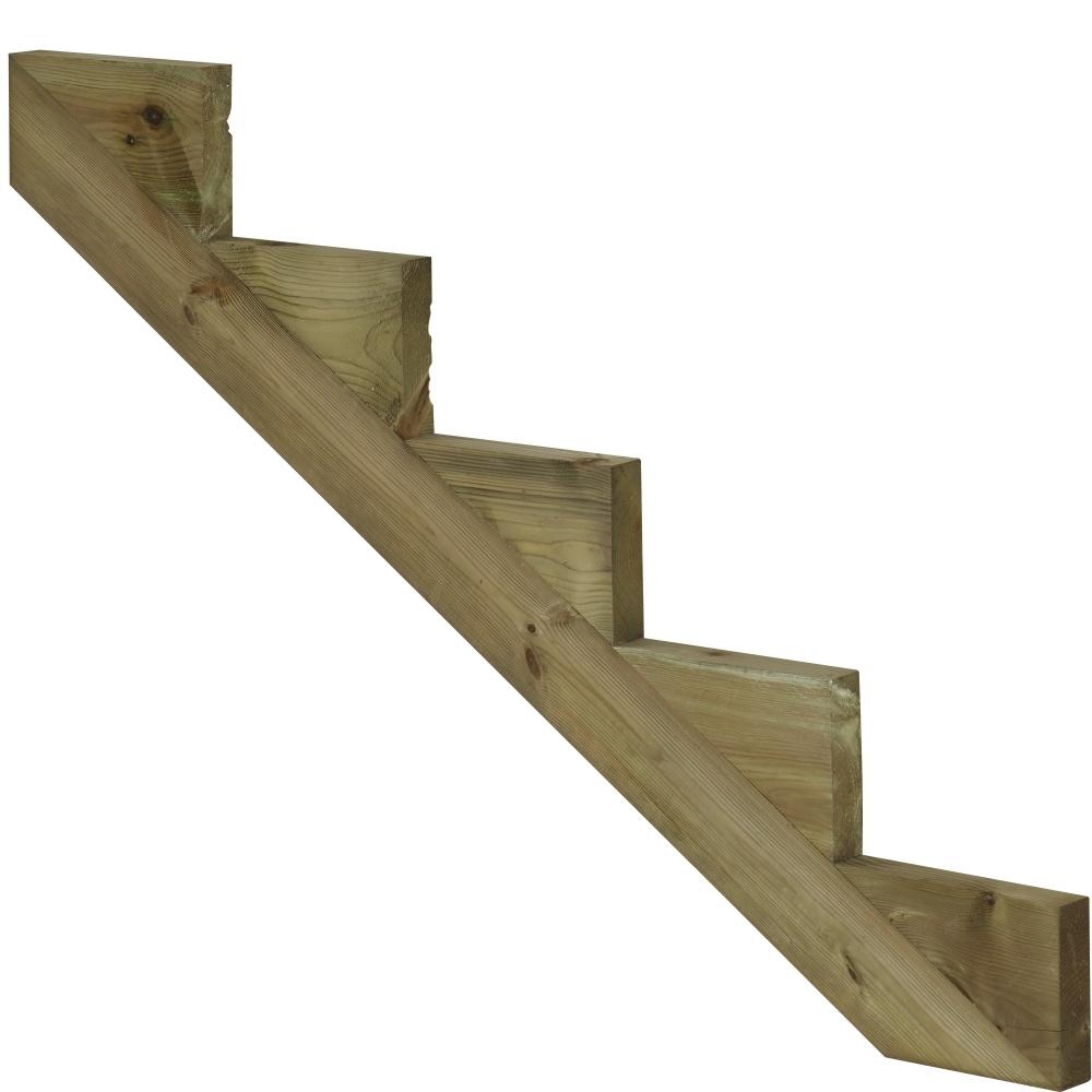 Limon 5 marches pour escalier de jardin en bois autoclave classe 4