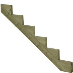 Limon 6 marches pour escalier de jardin en bois autoclave classe 4