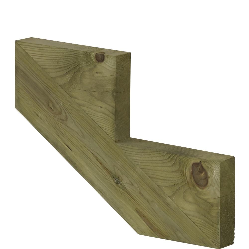 Plus Danemark Limon 7 marches pour escalier de jardin en bois autoclave  classe 4