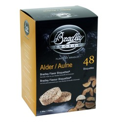Alder 48 smoking bisquettes for Bradley smoker