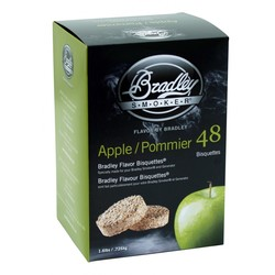 Apple 48 smoke bisquettes for Bradley smoker