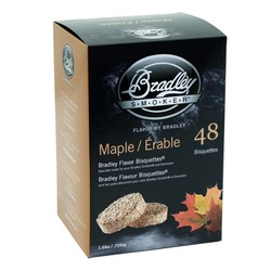 Maple 48 smoke bisquettes for Bradley smoker