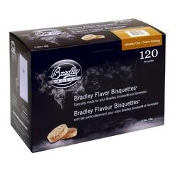 Oak-Whiskey 120 smoke bisquettes for Bradley smoker
