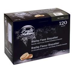 Oak 120 smoke bisquettes for Bradley smoker