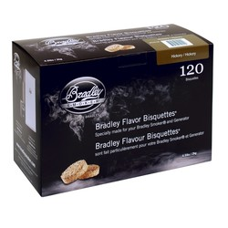 Hickory 120 smoke bisquettes for Bradley smoker