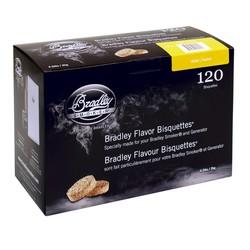 Alder 120 smoking bisquettes for Bradley smoker