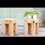 JanKurtz  Square stool JAVA in solid Teak wood