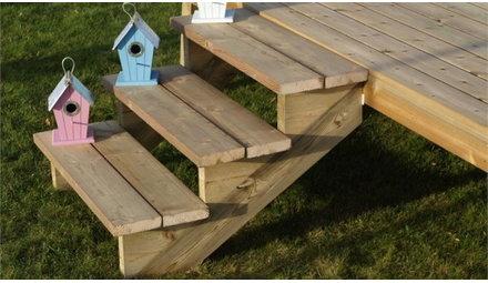 Producten voor het bouwen van uw tuintrap