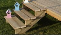 Comment fabriquer un escalier en bois pour l'exterieur ?