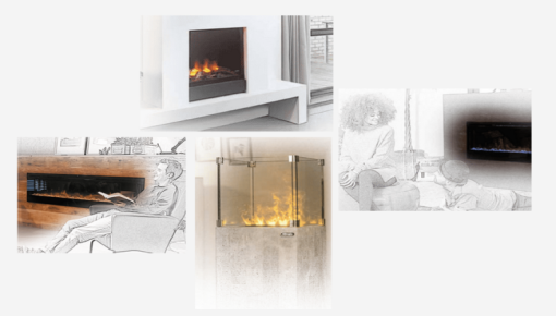 Electric fire places and stoves