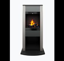 DIMPLEX Cubic Noir/anthracite - Poêle décoratif chauffant Opti-myst® et chauffage électrique imitation buches et fumée