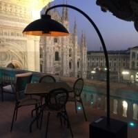 Heatsail Dome parasol chauffant infrarouge terrasse il Duomo Milano
