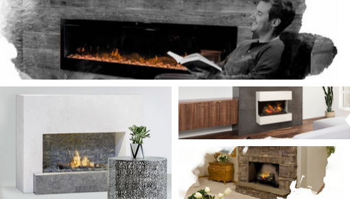 Built-in furniture and free standing fires