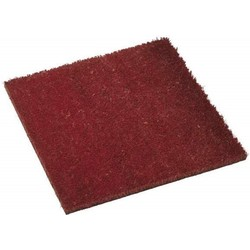 Red coco door mat 40x40cm - PLUS