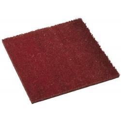 Tapis 40x40cm en coco rouge - PLUS