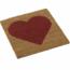 Plus Danemark Tapis 40x40cm en coco coeur rouge - PLUS