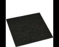 Black rubber door mat 40x40cm - PLUS