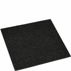 Zwarte rubberen deurmat 40x40cm - PLUS