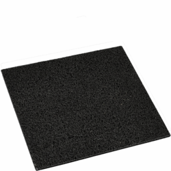 Zwarte rubberen deurmat 40x40cm