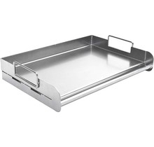 Rechthoekige rvs pro bakplaat voor Braai en barbecue - Charcoal Companion