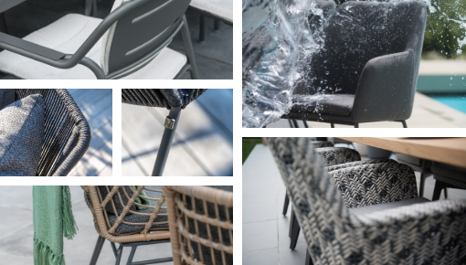 Dining and living outdoor chairs