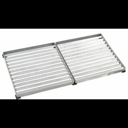 deurmat-deurrooster 80x40 cm in gegalvaniseerd staal - PLUS