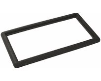 Bord en caoutchouc noir pour paillasson 80x40cm - PLUS