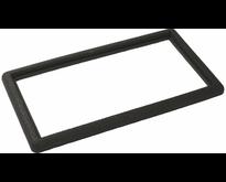 Zwarte rubberen rand 90x50cm voor deurmat-rooster 80x40cm of 2x 40x40cm - PLUS
