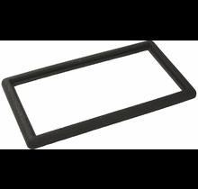 Zwarte rubberen rand 90x50cm voor deurmat-rooster 80x40cm of 2x 40x40cm