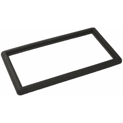 Black rubber border 90x50cm for door foot grid