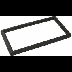 Zwarte rubberen rand 90x50cm voor deurmat-rooster
