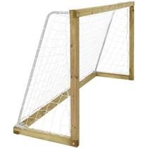 Voetbaldoel 240x128cm van geimpregneerd hout met voetbalnet