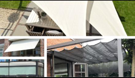 Schaduwdoeken, pergola en parasols