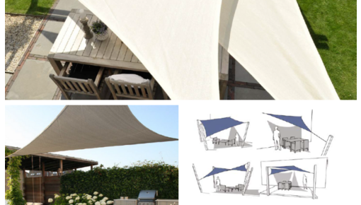 Nesling Coolfit shade sail, square, triangle or rectangle.