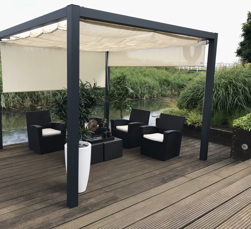Voile D Ombrage Veranda nesling coolfit harmonica shade sail 200x400cm for pergola - nesling