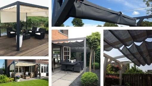 Coolfit harmonica shade sail for pergola - Nesling