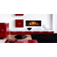 Glen Dimplex DIMPLEX OPTI-V noir foyer mural décoratif Opti-Virtual® imitation buches, flamme et crépitement