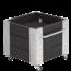 Plus Danemark Cubic bac à fleur carré 46x50x45cm bois et mobile avec cornières galvanisées et roulettes