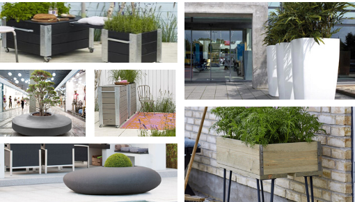 PLUS stylish planters - sleek Danish design, square, rectangular, as room divider and on wheels