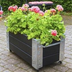 Plantenbak PLUS Cubic rechthoekig op wieltjes