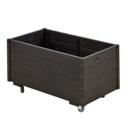 Black-line rectangular planter 88x48x47cm