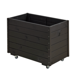 Black-line rectangular planter 88x48x66cm