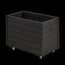 Black-line rectangular planter 88x48x66cm